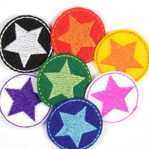 kleine runde Flicken mit Stern zum aufbügeln